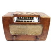 Rare Working Vintage Vacuum Tube Radio Farnsworth Et-067 Wooden Am Tabletop