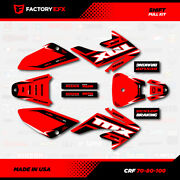 Red And Black Shift Racing Graphics Kit Fits 04-15 Honda Crf70 Crf 70 Decal