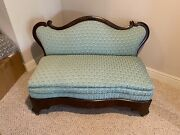 Fabulous Antique 19c American Bustle Couch Loveseat With Appraisal Copy