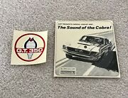 Sound Of The Cobra Narrated Carroll Shelby And G.t. 350 Water-slide Decal Catalog