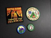 Girl Scout Patches - Lot Of 4 Geography Fun Camping Camporee