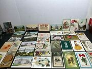 Antique Post Cards, Old Stamps 1905 -1950's Large Estate Collection