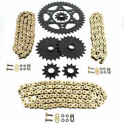 1991-1993 Polaris 250 Trail Boss 4x4 Gold O Ring Chains And Complete Sprocket Set