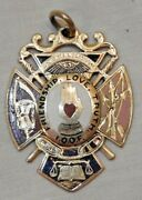 Antique 14k Gold And Enamel Ioof Independent Order Of Odd Fellows Medal Fob 10.2 G