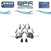 Corsa 304 Ss Cat-back Exhaust System W/split Rear Exit For Jeep 11-21 14991blk