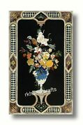 30 X 60 Inches Marble Inlay Table Top Antique Work Dining Table Home Furniture