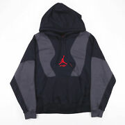 Nike Air Jordan Off White Black 00s Round Neck Hoodie Mens 2xl