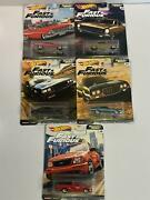 Fast And Furious Muscle Collection Real Riders 5 Car Set Hot Wheels