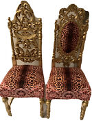 Vintage Set Of2 Alison In Wonderland Children Chair With Versace Upholstery