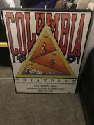 Columbia Triathlon Official Poster 1991 Columbia Maryland Howard County 28x22