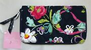 Vera Bradley Accordion Wallet - Ribbons - Navy Blue - New With Tag - Butterfly