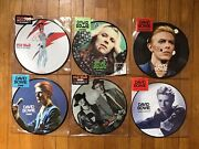"""David Bowie Record Store Day 7"""" Picture Disc Lot Of 7 Rsd 1984 Fame Changes"""