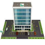 Z Scale Building Kit 1/220 Scale Office Building, Fits Micro-trains, Marklin