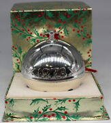 Wallace 1973 Silver Plated Christmas Sleigh Bell Ornament 3rd Limited Edition