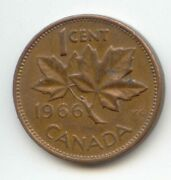Canada 1966 Canadian Penny One Cent 1c Coin Lot Z