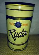 Rare Ryder Beer Can Pull Tab Molson Brewery Bc Limited Vancouver