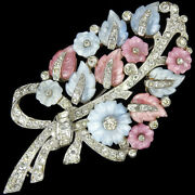 Mazer Pave Pastel Fruit Salads Floral Spray With Baguette Bow Pin