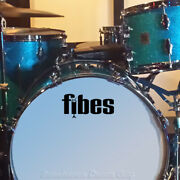 Fibes 70s Vintage Repro Logo - Adhesive Vinyl Decal For Bass Drum Head