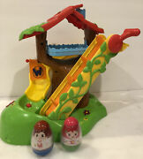 Hasbro 2009 Weebles Wobble Musical Treehouse Slide W/ Sounds + Original Weebles
