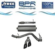 Corsa Cat-back Exhaust System With Dual Side Exit For Chevy/gmc 14-18 14847blk