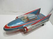 Space Pioneer Battery Operated Good Condition Tested Works Made In Japan--scarce