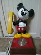 1976 Disney Mickey Mouse Phone Rotary Dial Western Electric American Tele. Vtg