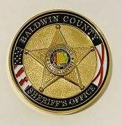 Sought After-unique-baldwin County Alabama Sheriff -police Challenge Coin