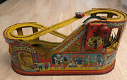 Vintage 1949 J.chein Roller Coaster Wind Up W/ 1 Car Made In Usa