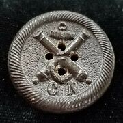Civil War Confederate Enlisted Manand039s Navy Coat Button Albertcs-60-a Charleston