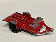 Vtg 1969 Tootsie Toy Red Metal Motorcycle Moped Trailer - Tootsietoy Free Ship