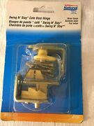 National Hardware Swing N Stay Cafe Door Hinge 173-823 Brass Gravity Action New