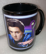 Lonely Street Elvis Presley With Pink Cadillac Drinking Mug New