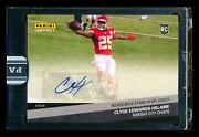 2020 Panini Instant Clyde Edwards-helaire Rc 1st Nfl Game Black Auto Chiefs 1/1
