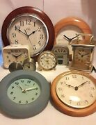 Clocks, Clocks All Types And Sizes - Click On Select To View Individual Items