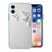For Apple Iphone 11 Silicone Case Origami Butterflies - S322
