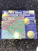 Vintage Worldand039s Most Difficult Jigsaw Puzzle Tennis Edition Double Sided 1995