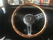 Rover Austin Mini Cooper 13 Wood Steering Wheel With Boss Kit And Chrome Center