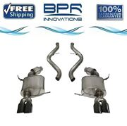 Corsa 304 Ss Cat-back Exhaust System Quad Rear For Bmw 3-series 08-12 14568blk
