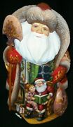 Stunning Russian Hand Painted Scenic Santa Claus Reading A Bedtime Story 8234