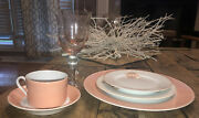 Fitz And Floyd Coquille Shell Place Setting W Matching Stemware Service Of 12 Mint