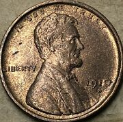 1910 -s Unc Bu Perfect Red Gold Lincoln Wheat Penny. Beautiful Red Lincoln Cent