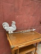 1900s Zinc James Rooster Lightning Rod Weathervane Country Directional Farmhouse