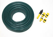 60m Of Heavy Duty Green Garden Hose With Connectors Hozelock Compatible