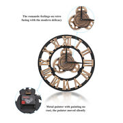 Retro Gear Clock Room Wooden Wall Clock Decoration For Home