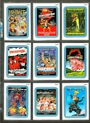 2013 Wacky Packages All New Series 11 {ans11} Complete Blue Distractions Set.