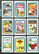2013 Wacky Packages All New Series 11 {ans11} Complete Blue Rude Food Set.