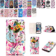 Painting Leather Flip Stand Card Wallet Case Cover For Ipod Touch 5th 6th Gen