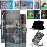 For Samsung Galaxy Sm-t290 T510 T860 Patterned Flip Leather Magnetic Case Cover