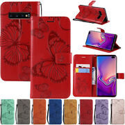 Magnetic Flip Leather Wallet Stand Case Cover For Samsung S7 S10+ A8 J8 2018