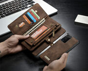 Leather Wallet Flip Magnetic Back Cover Case For Iphone Samsung Huawei Models